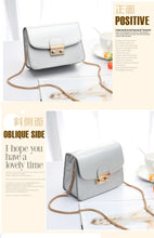 Load image into Gallery viewer, Hot handbag PU pure color single shoulder bag lady temperament small square Bag Satchel A