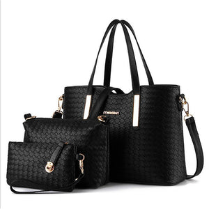 Women's Zipper Polyester Bag Set Bag Sets 3 Pcs Purse Set Black / Wine / White