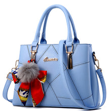 Load image into Gallery viewer, Women's Lace PU(Polyurethane) Top Handle Bag Artwork Black / White / Sky Blue / Fall & Winter
