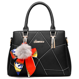 Women's Lace PU(Polyurethane) Top Handle Bag Artwork Black / White / Sky Blue / Fall & Winter