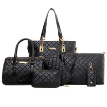 Load image into Gallery viewer, Women's Rivet Special Material Bag Set / Zipper Bag Sets Solid Colored Black / Coffee / Blue