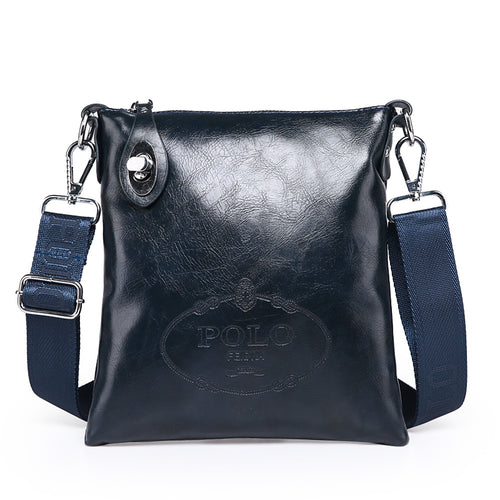 Men's PU Crossbody Bag Solid Colored Black / Brown / Blue / Messenger