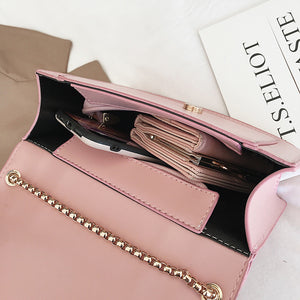 Women's Buttons / Zipper PU Crossbody Bag Solid Color Black / White / Blushing Pink / Fall & Winter