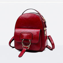 Load image into Gallery viewer, PU Buttons / Zipper Commuter Backpack Solid Color Daily Green / Black / Red / Fall & Winter