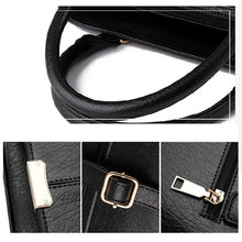 Load image into Gallery viewer, Women's Zipper PU Shoulder Messenger Bag Solid Color Black / Wine / White / Fall & Winter