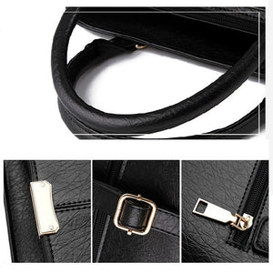 Women's Zipper PU Shoulder Messenger Bag Solid Color Black / Wine / White / Fall & Winter