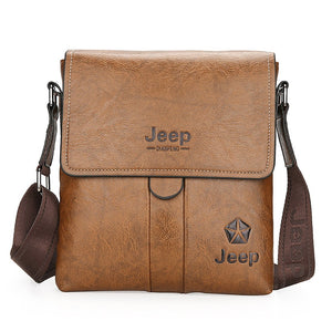 Men's Zipper PU Shoulder Messenger Bag Black / Brown / Dark Brown