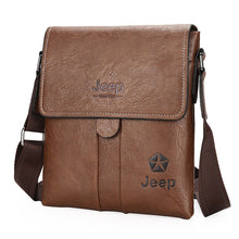 Load image into Gallery viewer, Men's Zipper PU Shoulder Messenger Bag Black / Brown / Dark Brown