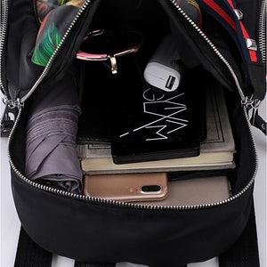 Nylon Oxford Pattern / Print Commuter Backpack Scenery Daily Black / Rainbow / Fall & Winter