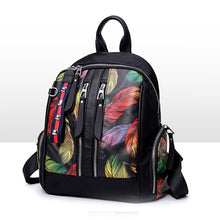 Load image into Gallery viewer, Nylon Oxford Pattern / Print Commuter Backpack Scenery Daily Black / Rainbow / Fall & Winter