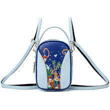 Load image into Gallery viewer, PU Zipper Commuter Backpack Daily Blue / White / Yellow