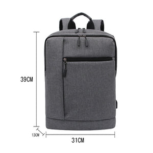 Large Capacity Nylon Zipper School Bag Solid Color Daily Black / Sillver Gray / Light Grey