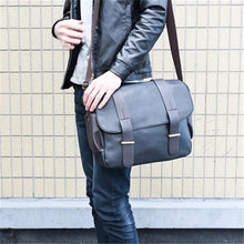 Load image into Gallery viewer, Men's Shoulder Messenger Bag PU(Polyurethane) Solid Color Black