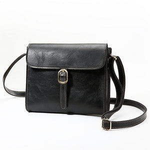 Women's PU Shoulder Messenger Bag Solid Color Black / Brown / Wine