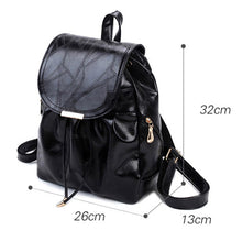 Load image into Gallery viewer, Women's Zipper Commuter Backpack Backpack PU(Polyurethane) Solid Color Black / Fall & Winter