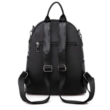 Load image into Gallery viewer, Oxford Cloth Zipper Commuter Backpack Solid Color Daily Black / Fall & Winter