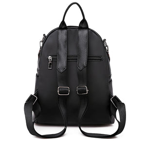 Oxford Cloth Zipper Commuter Backpack Solid Color Daily Black / Fall & Winter