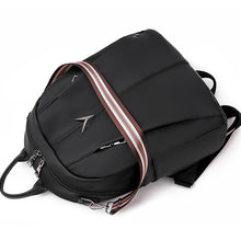 Load image into Gallery viewer, Oxford Synthetic Zipper Commuter Backpack Solid Color Daily Black / Fall & Winter