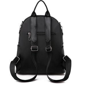 Oxford Synthetic Zipper Commuter Backpack Solid Color Daily Black / Fall & Winter