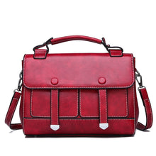 Load image into Gallery viewer, Women's Buttons / Zipper PU Satchel Solid Color Black / Brown / Red / Fall & Winter