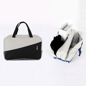 Polyester Zipper Carry-on Bag Color Block Daily Dark Blue / Gray / Fuchsia / Unisex / Fall & Winter