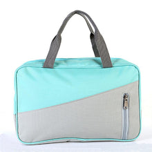 Load image into Gallery viewer, Polyester Zipper Carry-on Bag Color Block Daily Dark Blue / Gray / Fuchsia / Unisex / Fall & Winter