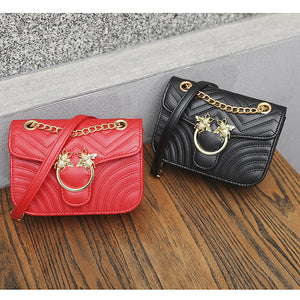 Women's Buttons PU(Polyurethane) / PU Crossbody Bag Solid Color Black / Red / Fall & Winter