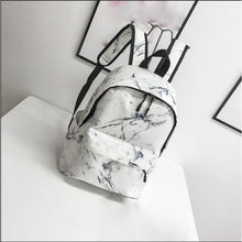Load image into Gallery viewer, Canvas Zipper School Bag Daily White / Black / Fall & Winter