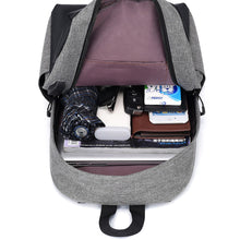 Load image into Gallery viewer, Polyester Synthetic Zipper School Bag Solid Color Daily Red / Dark Grey / Light Grey / Fall & Winter