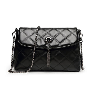 Women's Tassel Polyester / PU Crossbody Bag Lattice Black / Fall & Winter