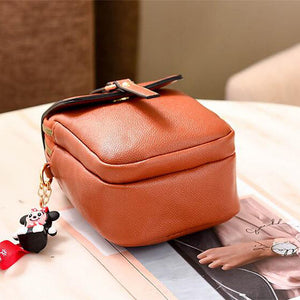 Women's PU Crossbody Bag Solid Color Black / Orange / Red / Fall & Winter