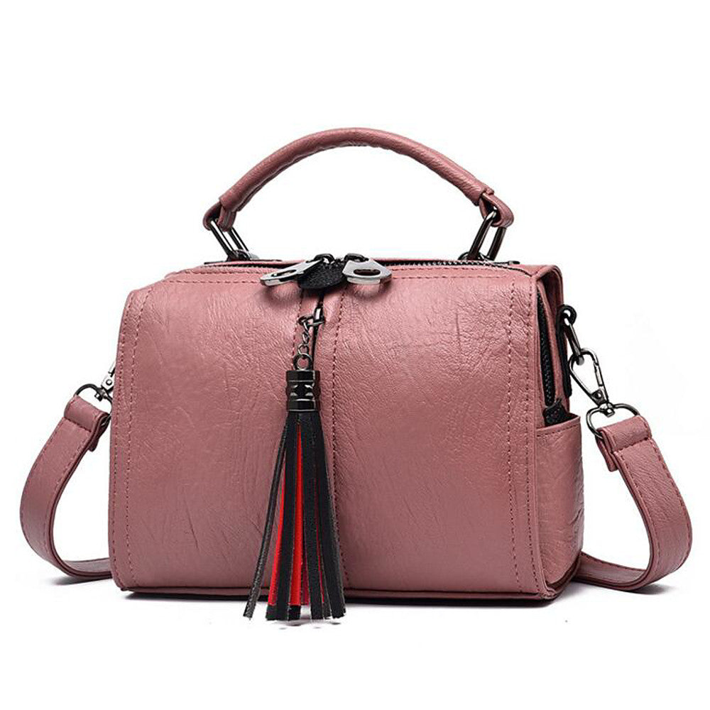 Women's Zipper PU(Polyurethane) Shoulder Messenger Bag Black / Wine / Blushing Pink