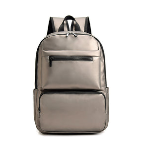 Large Capacity Nylon Zipper School Bag Solid Color School Gold / Black / Gray / Men's / Fall & Winter