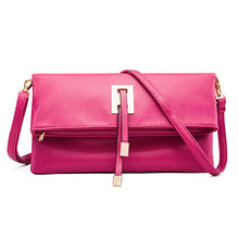 Load image into Gallery viewer, Women's Tassel PU Shoulder Messenger Bag Solid Color Black / Light Grey / Fuchsia / Winter