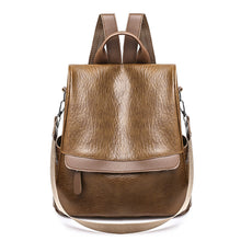 Load image into Gallery viewer, PU Leather Feathers / Fur / Zipper Commuter Backpack Solid Color Daily Brown / Black / Girls'