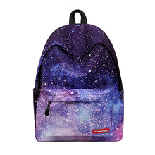 Load image into Gallery viewer, Unisex Zipper School Bag Backpack Polyester Geometric Light Purple