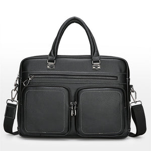 Men's Briefcase PU(Polyurethane) Solid Color Black / Coffee / Fall & Winter