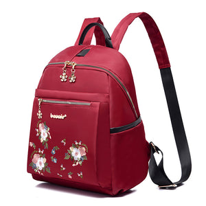 Oxford Synthetic Embroidery Commuter Backpack Embroidery Sports & Outdoor Blue / Black / Red / Fall & Winter