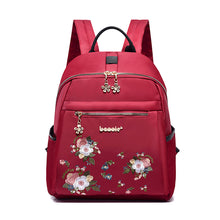 Load image into Gallery viewer, Oxford Synthetic Embroidery Commuter Backpack Embroidery Sports & Outdoor Blue / Black / Red / Fall & Winter