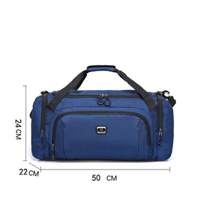 Zipper Travel Bag Solid Color Solid Color Oxford Cloth Nylon Practice Dark Blue / Purple / Sky Blue / Unisex / Fall & Winter