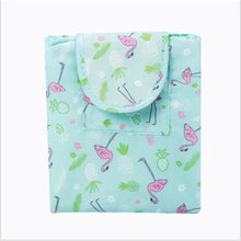 Load image into Gallery viewer, Polyester Cosmetic Bag Zipper Sky Blue / Pink / Khaki