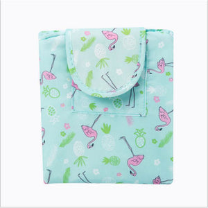 Polyester Cosmetic Bag Zipper Sky Blue / Pink / Khaki
