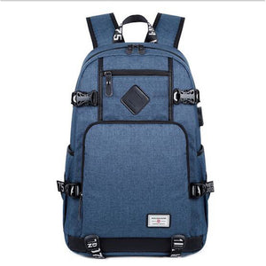 Unisex Zipper School Bag Polyester Blue / Black / Gray