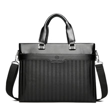 Load image into Gallery viewer, Men's Zipper Briefcase PU(Polyurethane) Solid Color Black / Brown / Fall & Winter