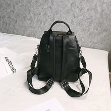 Load image into Gallery viewer, PU Leather Zipper School Bag Solid Color Daily Black / Fall & Winter