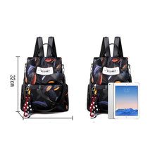 Load image into Gallery viewer, Oxford Cloth Zipper Commuter Backpack Color Block Daily Black