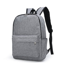 Load image into Gallery viewer, Nylon Synthetic Zipper School Bag Solid Color Daily Gray / Men's / Fall & Winter