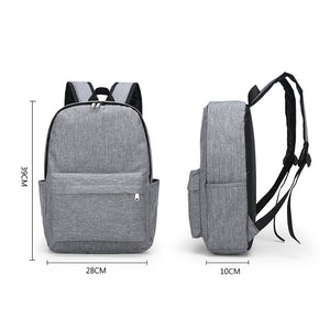 Nylon Synthetic Zipper School Bag Solid Color Daily Gray / Men's / Fall & Winter