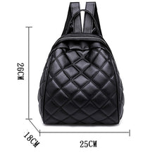 Load image into Gallery viewer, PU Zipper Commuter Backpack Solid Color School Black / Silver / Fall & Winter