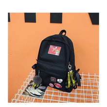 Load image into Gallery viewer, Unisex Zipper School Bag Synthetic Black / Red / Blushing Pink
